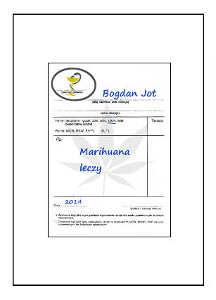"""""""Marihuana leczy"""" - okładka"""